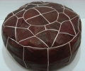 EGYPTIAN LEATHER POUF
